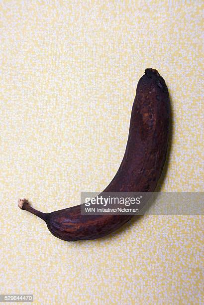 Close-up of a rotten banana
