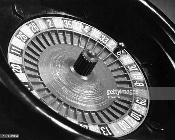 Closeup of a roulette wheel Undated photograph
