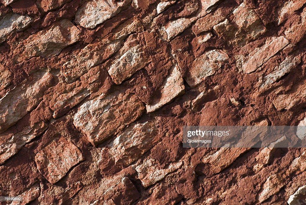 Close-up of a rugged wall : Foto de stock