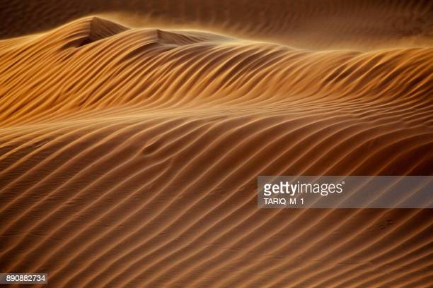 close-up of a sand dune in the desert, saudi arabia - saudi stock pictures, royalty-free photos & images