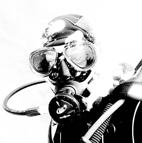 Close-up of a scuba diver, Yalta, Crimea, Ukraine