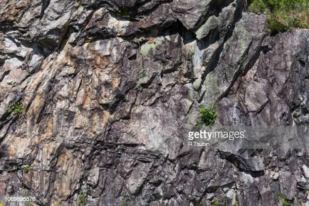 closeup of a sedimentary mountain limestone rocks texture - kalkstein stock-fotos und bilder