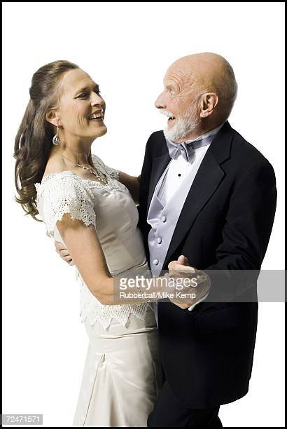 Close-up of a senior couple dancing
