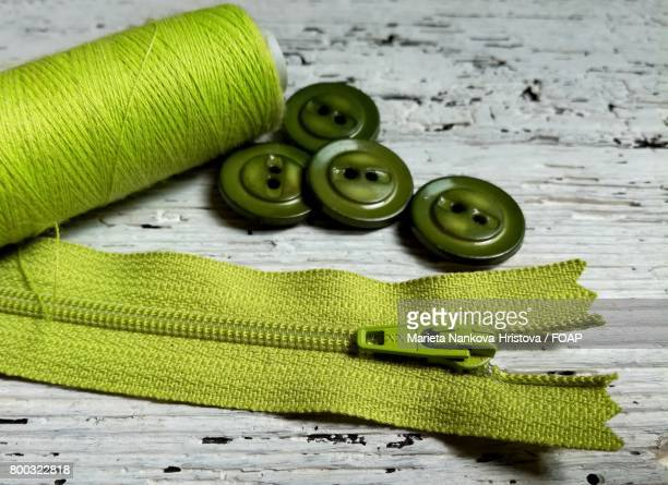 Close-up of a sewing item
