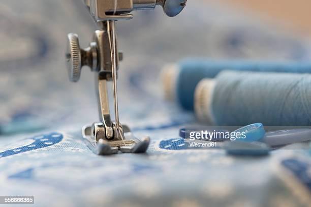 Close-up of a sewing machine