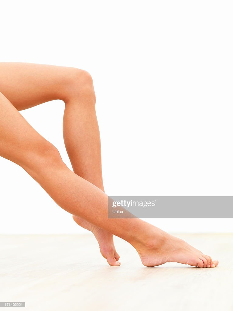 Closeup of a sexy young woman legs : Stock Photo