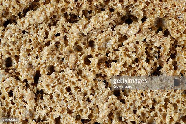 Close-up of a slice of brown bread