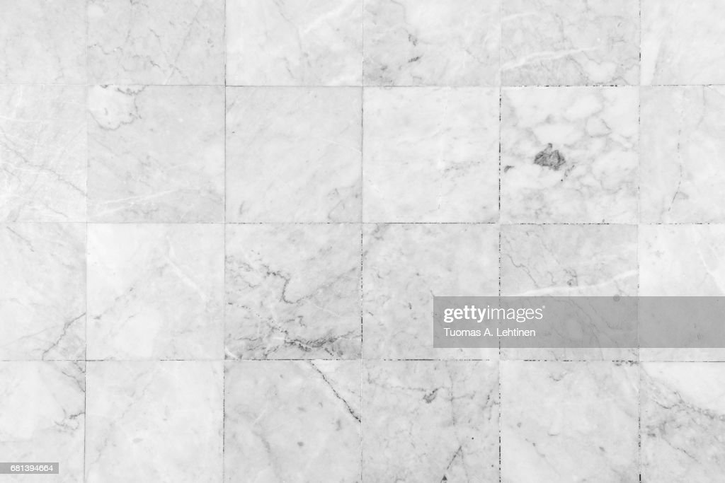 Close-up of a smooth marble floor viewed from above in black&white. : Stock Photo
