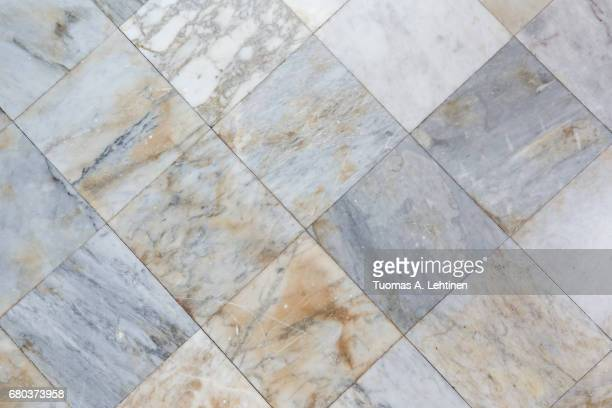 Close-up of a smooth marble floor Viewed from above.