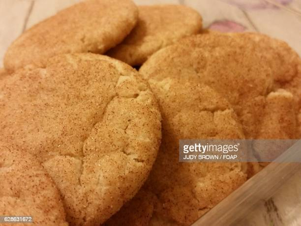 close-up of a snickerdoodle cookies - snickerdoodle stock pictures, royalty-free photos & images