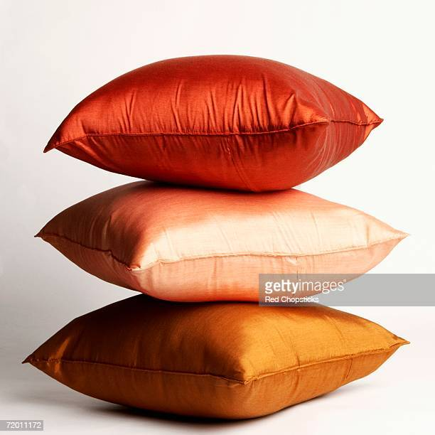 Close-up of a stack of cushions