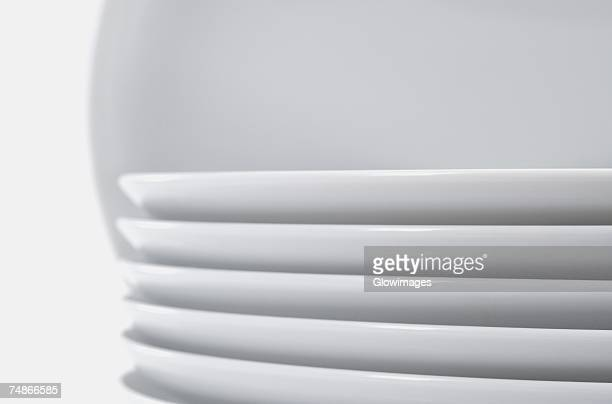 Close-up of a stack of plates
