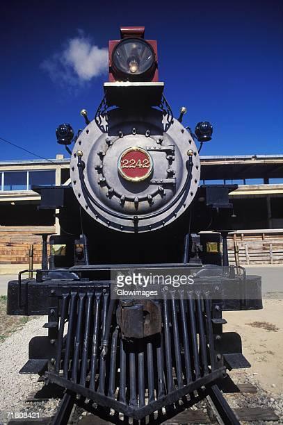 Close-up of a steam train engine, Texas, USA