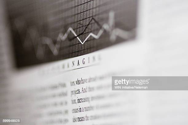 Close-up of a stock market article