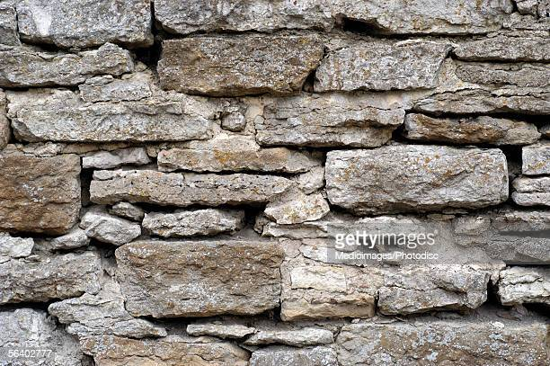 Close-up of a stone wall