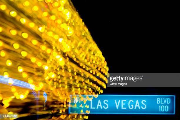 Close-up of a street name sign, Las Vegas, Nevada, USA
