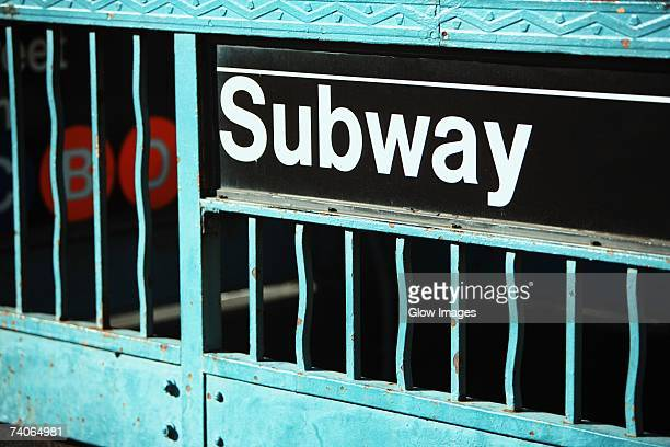 close-up of a subway sign on an information board - underground sign stock pictures, royalty-free photos & images