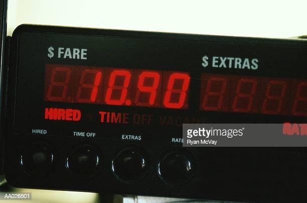 Close-Up of a Taxi Meter