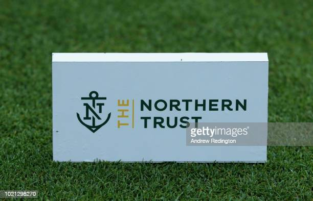 A closeup of a teemarker during the Pro Am event prior to the start of The Northern Trust at Ridgewood CC on August 22 2018 in Ridgewood New Jersey
