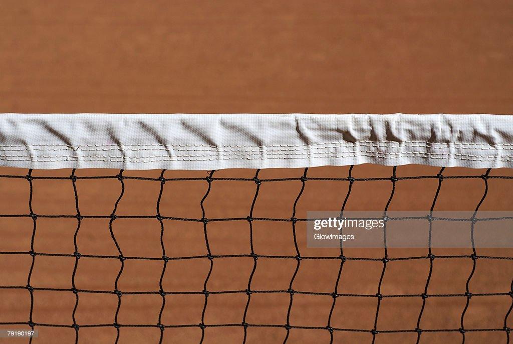Close-up of a tennis net : Foto de stock