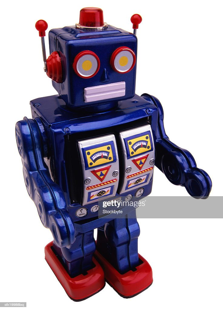 close-up of a toy robot : Stock Photo