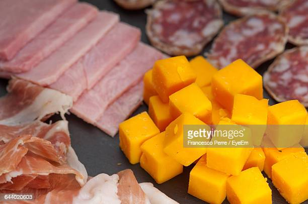 Close-Up Of A Variety Of Cheese