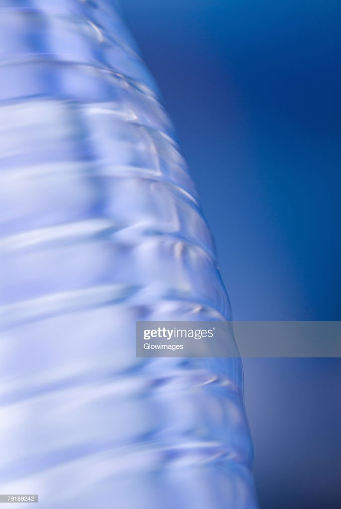 Close-up of a water bottle : Foto de stock