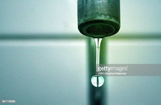 Close-up of a water dripping from a faucet, Santiago, Chile