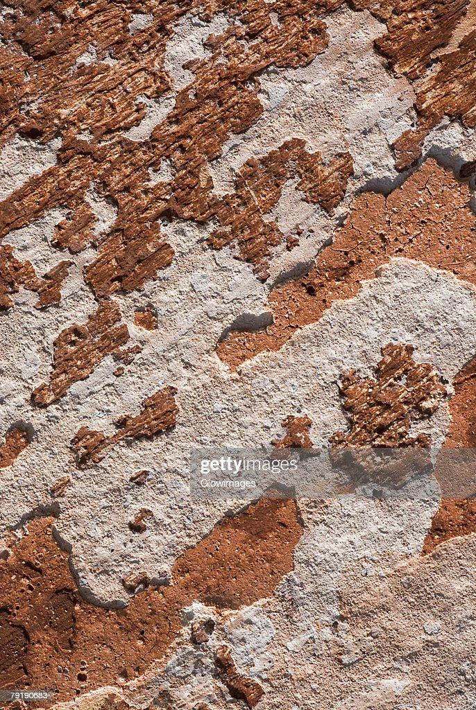Close-up of a weathered wall : Stock Photo