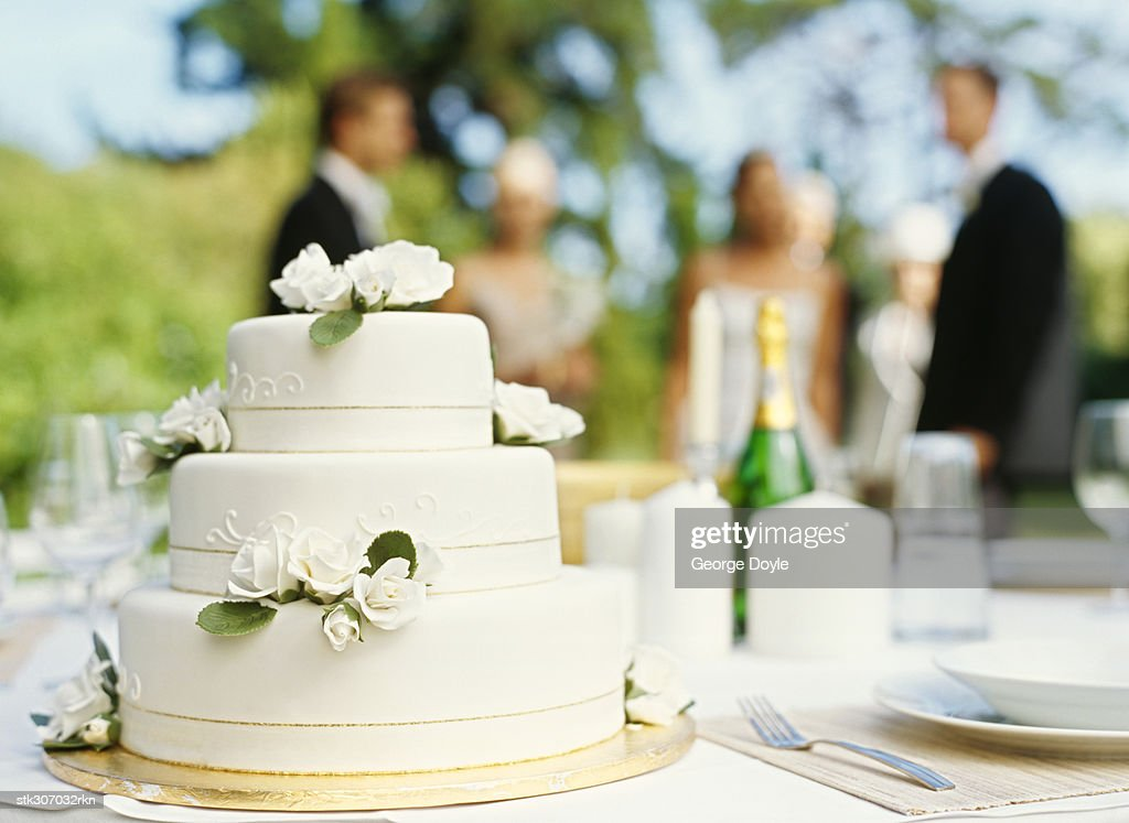 close-up of a wedding cake : Stock Photo