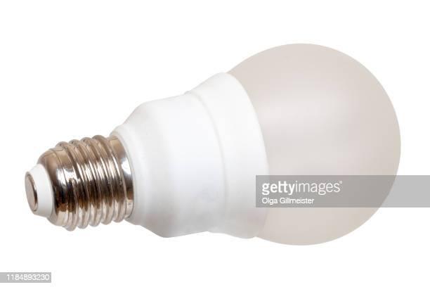 closeup white energy saving compact fluorescent