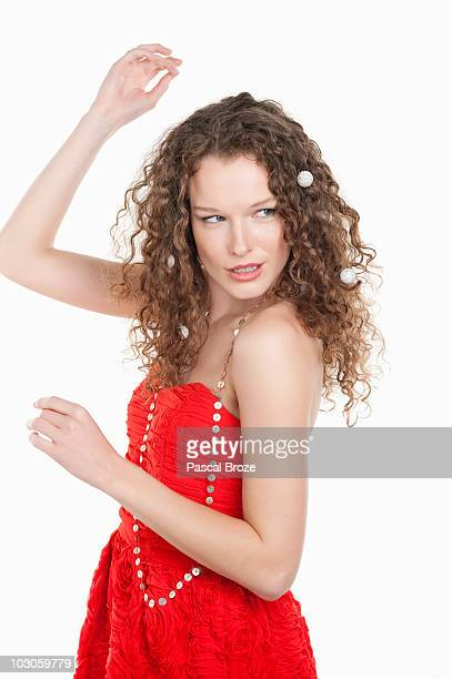 close-up of a woman dancing - off shoulder stock pictures, royalty-free photos & images
