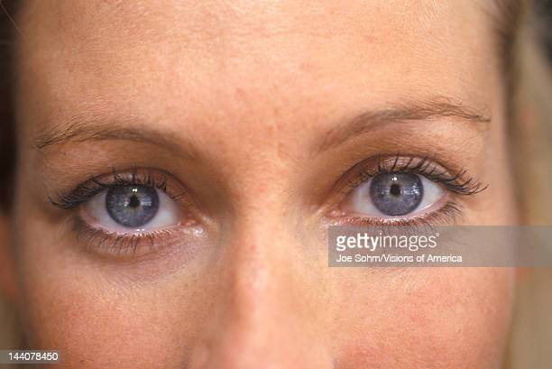 Closeup of a woman's eyes