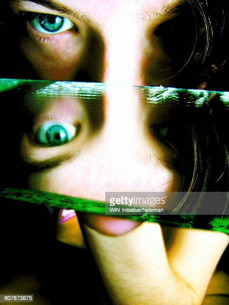 Close-up of a womans eyes