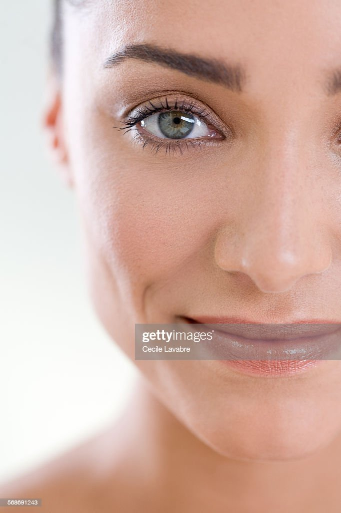 Close-up of a woman's face : Stock Photo