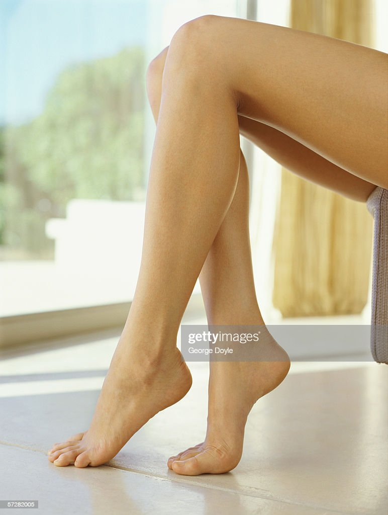 Close-up of a woman's legs : Stock Photo