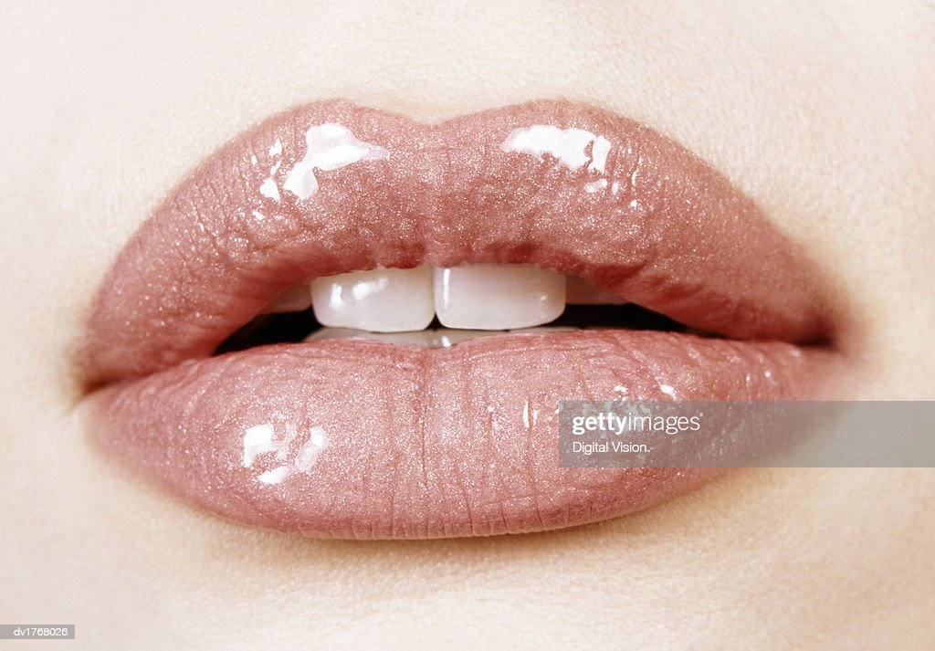 Close-up of a Woman's Lips : Stock Photo