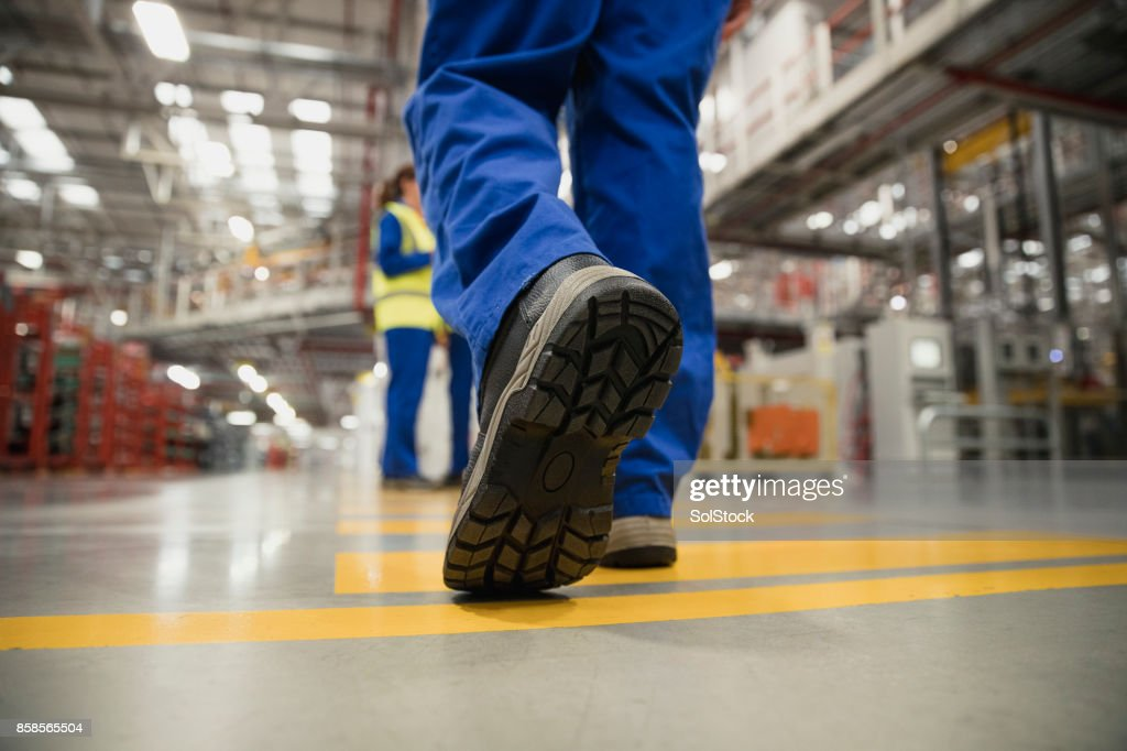 Close-Up of a Workers Boot : Stock Photo