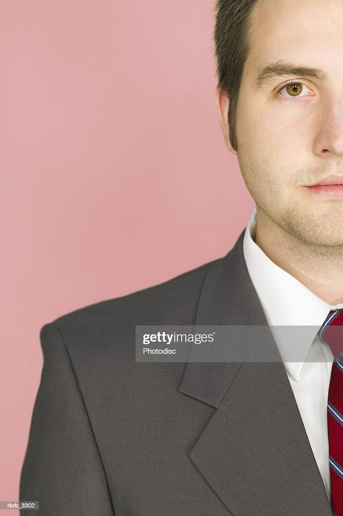 Close-up of a young businessman : Foto de stock