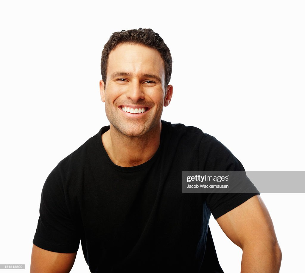 Close-up of a young guy smiling : Stock Photo