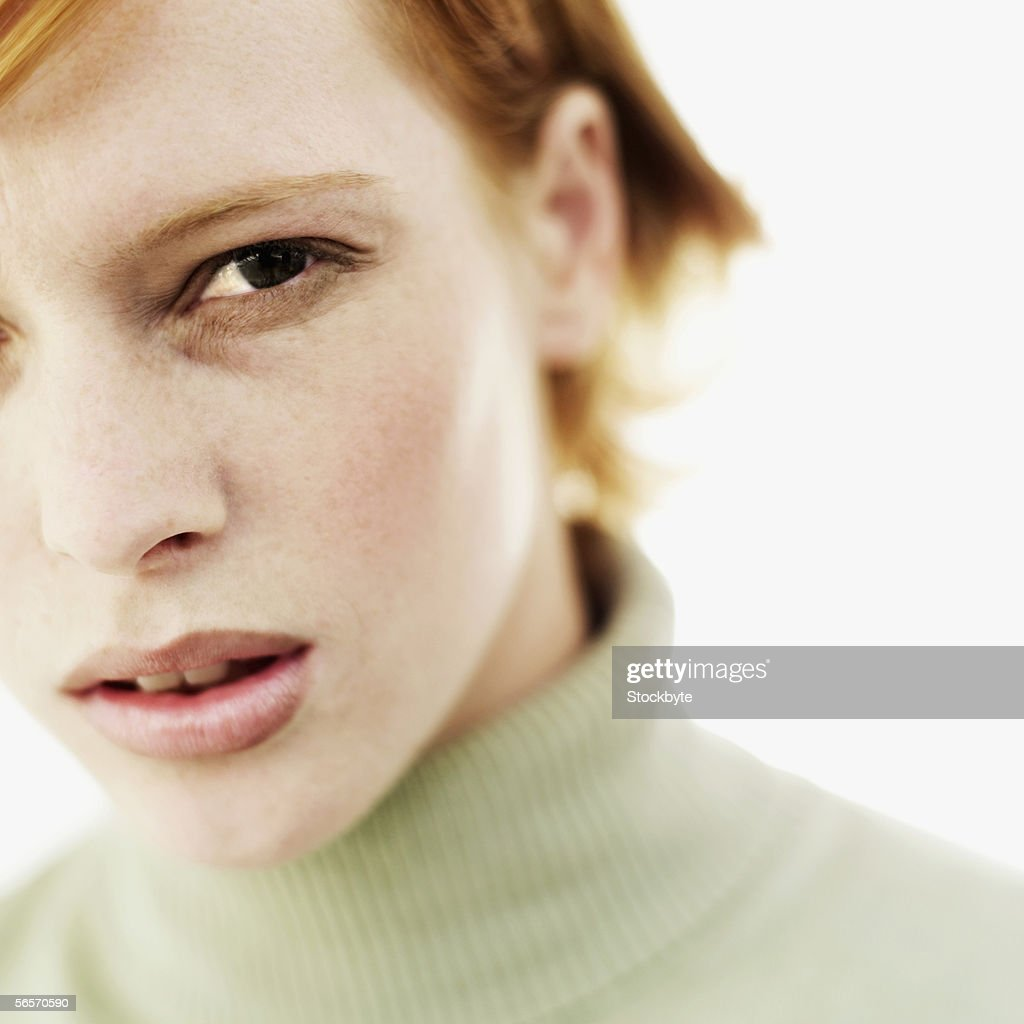 close-up of a young woman : Stock Photo