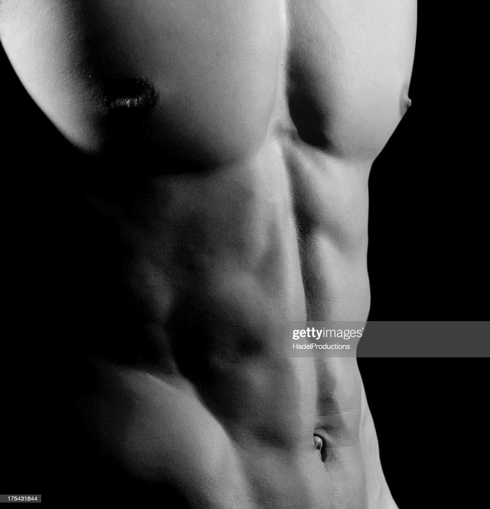 Closeup Of Ab Muscles Male Athlete Stock Photo Getty Images