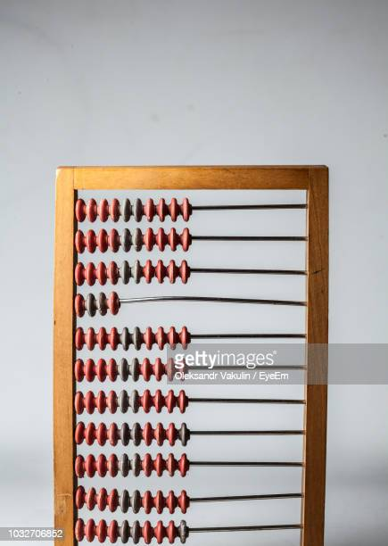 Close-Up Of Abacus Against Wall