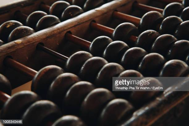 close-up of abacus - abacus stock photos and pictures