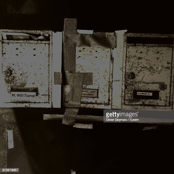 Close-Up Of Abandoned Mailboxes
