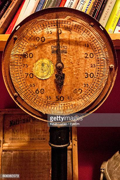 Close-Up Of Abandoned Weight Scale