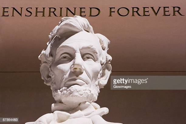 close-up of abraham lincoln statue, lincoln memorial, washington dc, usa - male likeness stock pictures, royalty-free photos & images