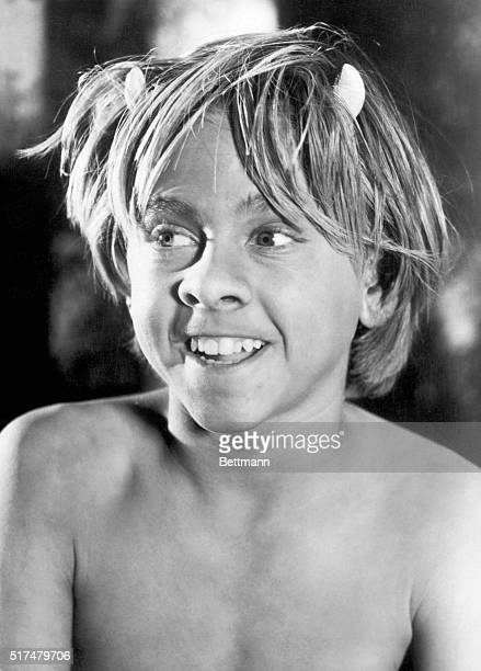 Closeup of actor Mickey Rooney as 'Puck' in the 1935 Warner Bros production of William Shakespeare's 'Midsummer's Night Dream' Undated movie still