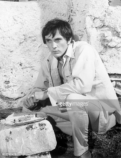 Closeup of actor Terence Stamp as he appears in the movie 'Modesty Blaise' March 1966 Movie still