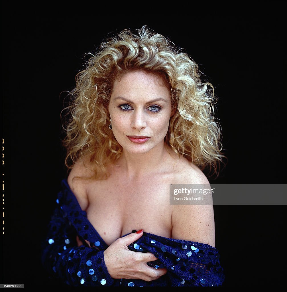 Actress Beverly D'Angelo in a Low Cut Dress : News Photo
